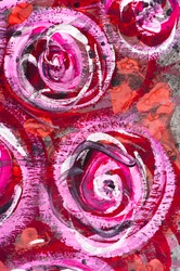 Macro detail of grunge watercolor painted floral background