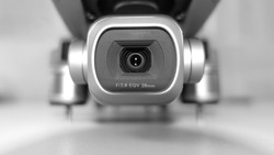 Macro detail photo of latest technology dji mavic 2 pro 1 inch sensor 4K camera stabilised gimbal