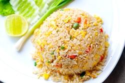 Macro Fried rice thai style