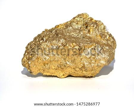 macro Gold ore in the boulder , precious stone