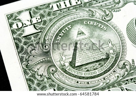 Macro image of a dollar