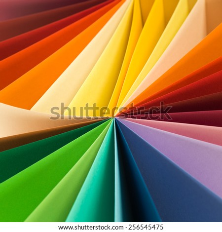 Colourful paper work