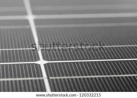 Macro image of Photovoltaic solar panel.
