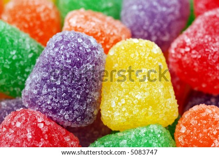 Macro image of spice gumdrops - stock photo