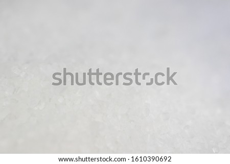 Macro images or close-up images of white sugar