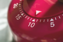 Macro Of A Kitchen Egg Timer - 10 Minutes