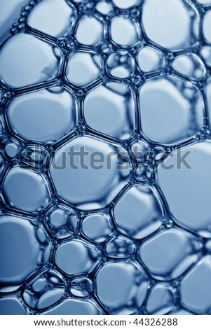 macro of a mass of  water bubbles