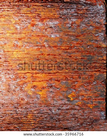 macro of a rusted machine's texture