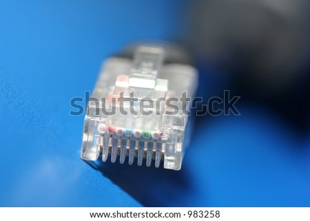 Macro of a UTP connector