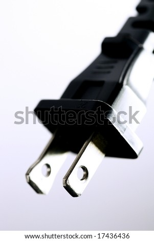 macro of an electrical cord - stock photo