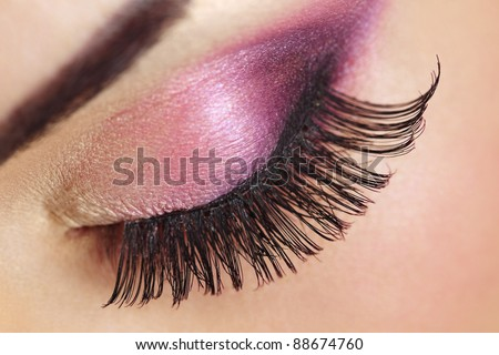 Macro of Beautiful Makeup