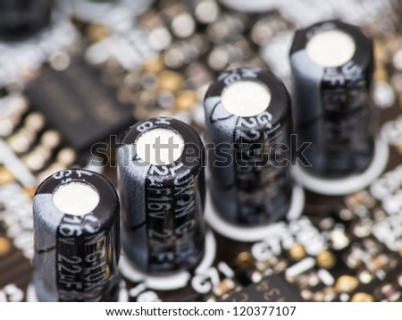 Macro of capacitors from sound card