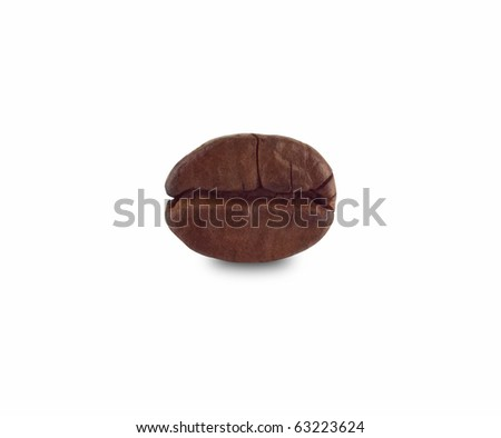 Macro of coffee bean with clipping path