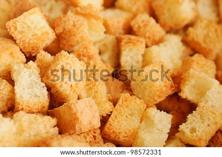 Macro of crouton (closeup, detail)