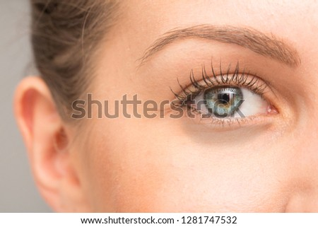 macro of dark circles under eye #1281747532