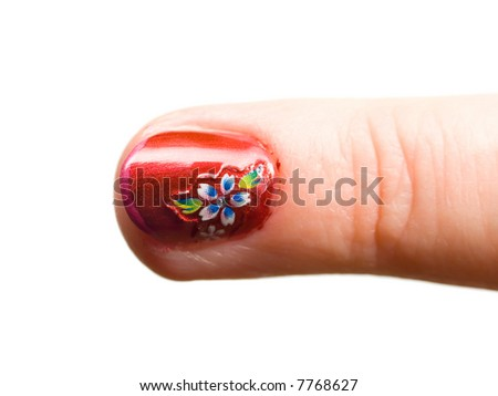 Finger nail pattern pictures