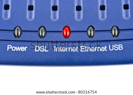 Macro of internet modem - technology background