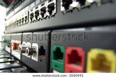 macro of lan switch. good use for net theme