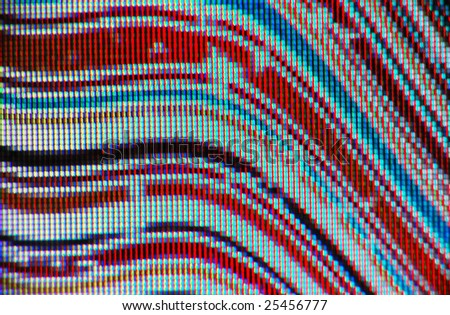 macro of LCD display - abstract colorful background