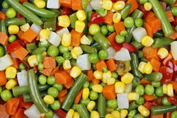 macro of mixed vegetables for background use