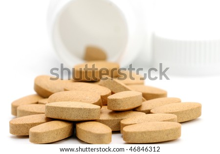 macro of  multi-vitamin
