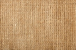 Macro of natural linen textile background texture