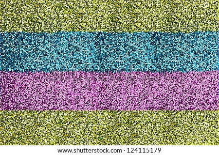Macro of Striped Glitter Background
