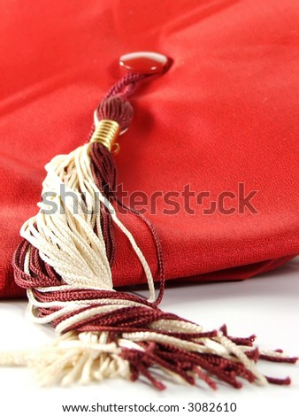 macro of tassel on cap