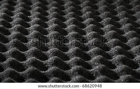 Macro photo black acoustic foam