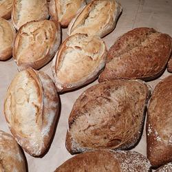 Macro photo bread. Stock photo fresh bread
