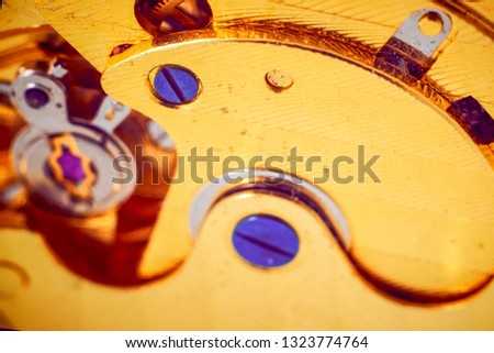 Macro photo mechanism of gold mechanical watches #1323774764