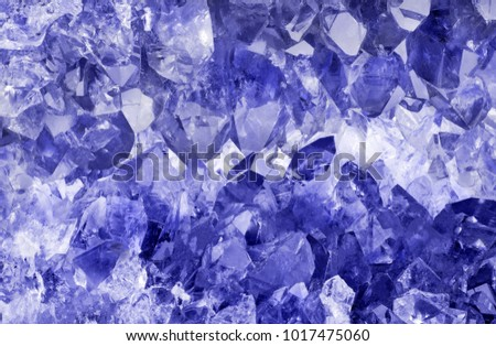 macro photo of blue sapphire crystals background