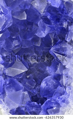 macro photo of blue sapphire group