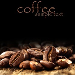 macro photo of coffee beans