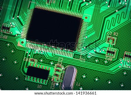 macro photo of electronic circuit. symbol of technology. Close up