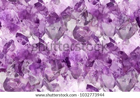 macro photo of lilac amethyst crystals seamless background