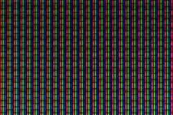 Macro photo of pixels from a CRT television