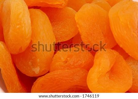Macro photo of Turkish Apricots