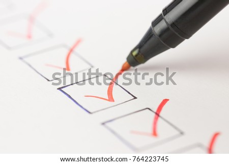Macro photography of check mark over white background #764223745
