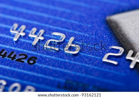 Macro picture of a credit card as a background.