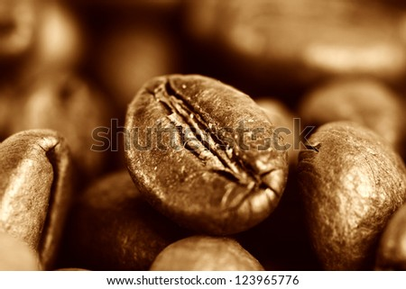 Macro picture of coffee beans.
