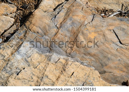 Macro rock detail with layers