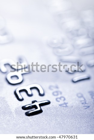 Macro shoot of a credit card. Perfect for background use