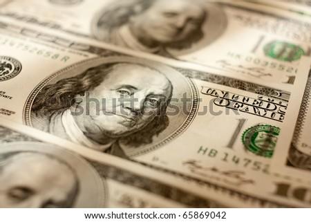 Macro shoot of dollar. Shallow focus.