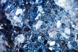 Macro shooting of natural gemstone. The raw mineral is apophyllite.