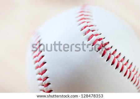 Macro shot of a baseball ball