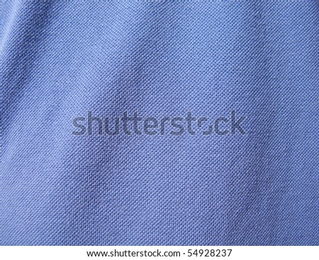 macro shot of a blue cloth texture