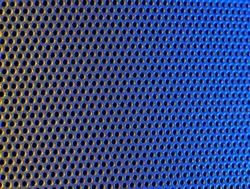 Macro shot of a metal grid background