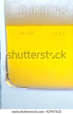 Macro shot of bubbles in beer