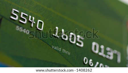 Macro shot of credit card. Shallow depth of Field